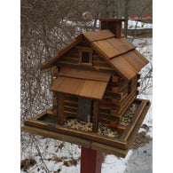 Large Bird Feeder Log Cabin