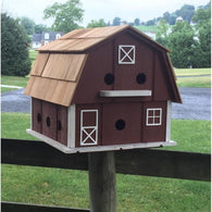 Backyard Birdhouse Barn Purple for Martin House - 12 Cavities