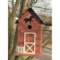 Wild Birds Birdhouse Summitville Stable - Red