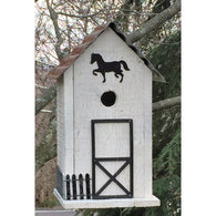 Wild Birds Birdhouse Summitville Stable - White