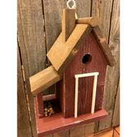 Wild Birds Birdhouse Woodcutters Cottage - Red