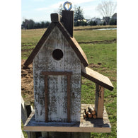 Wild Birds Birdhouse Woodcutters Cottage - White