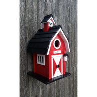 Decorative Outdoor Barn Birdhouse - Red