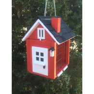 Modern Bird Feeder Suet Red Cottage