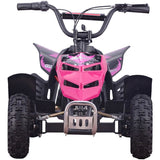 Mini Monster 24v 250w ATV Pink, Kids ATV Quad 4 Wheelers - SavvyNiche.com