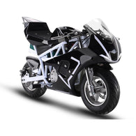 Electric Pocket Bike GP 36v 500w White, Kids Motorcycle / Dirt Bikes - SavvyNiche.com