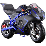 Cali Gas Pocket Bike 40cc Blue, Gas Powered Ride On Vehicles - SavvyNiche.com