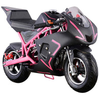 Cali Gas Pocket Bike 40cc Pink, Gas Powered Ride On Vehicles - SavvyNiche.com