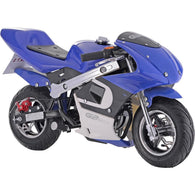 GBMoto Gas Pocket Bike 40cc Blue, Gas Powered Ride On Vehicles - SavvyNiche.com