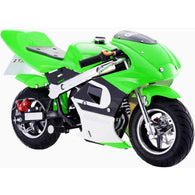 GBMoto Gas Pocket Bike 40cc Green, Gas Powered Ride On Vehicles - SavvyNiche.com