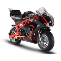 Gas Pocket Bike GP 33cc 2-stroke Red, Gas Powered Ride On Vehicles - SavvyNiche.com
