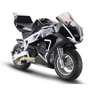 Gas Pocket Bike GP 33cc 2-stroke White, Gas Powered Ride On Vehicles - SavvyNiche.com