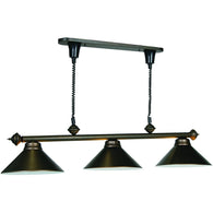 Pull Down Billiard Light Fixture, Metal Pool Table Lighting - SavvyNiche.com