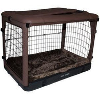 Steel Cage Crate for Small dog with pad, Pet Crates - SavvyNiche.com