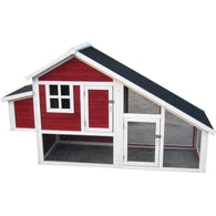 Chicken Hutch Red With White Trim Habitats