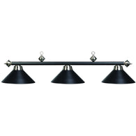 Matte Black Billiard Light, Metal Pool Table Lighting - SavvyNiche.com