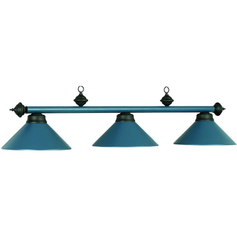 Matte Blue Lighting, Metal Pool Table Lighting - SavvyNiche.com