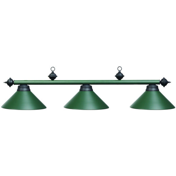 Matte Green Billiard Light, Metal Pool Table Lighting - SavvyNiche.com