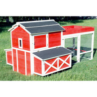 Chicken Coop Red Barn with Roof Top Planter