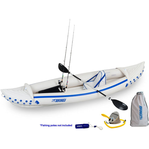 Sea Eagle 370 Sport Fishing Deluxe Kayak Packqage, Inflatable Kayak - SavvyNiche.com
