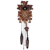 Quartz Cuckoo Clock Leaves & Bird, Quartz Cuckoo Clocks - SavvyNiche.com