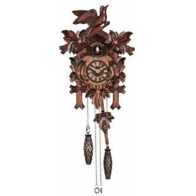 Cuckoo Clock Painted Flowers, Quartz Cuckoo Clocks - SavvyNiche.com