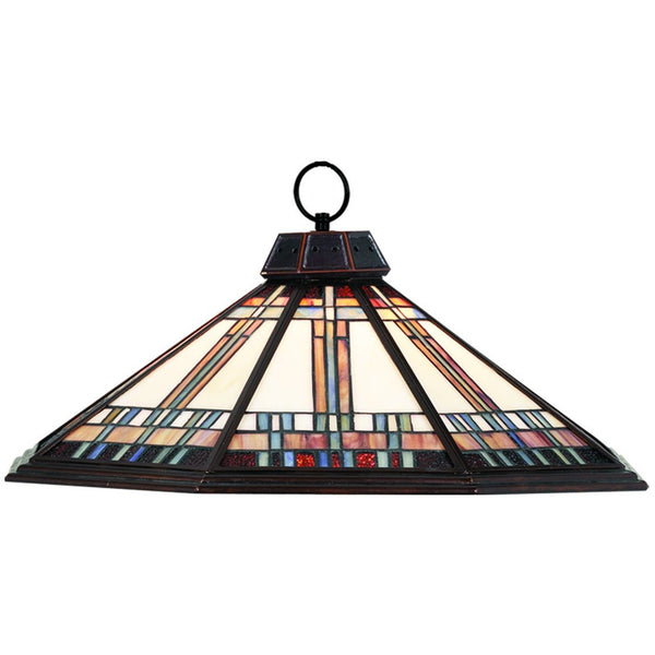 Winslow Stained Glass Pendant Light, Pendant Billiards Light - SavvyNiche.com