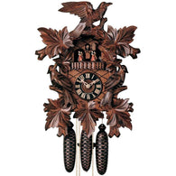 "<img src=""http://site.mycuckooclocks.com/best-seller-1.jpg"" height=50 width=50 border=0><br>German Cuckoo Clock<br>Leaf & Bird with Dancers<br>Musical"
