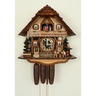 Cuckoo Wall Clock Beer Drinkers, 8 Day Musical Chalet Cuckoo Clocks - SavvyNiche.com