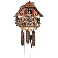 Cuckoo Wall Clock Beer Waitress, Beer Drinkers with Dancers, 8 Day Musical Chalet Cuckoo Clocks - SavvyNiche.com