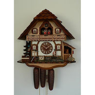 Cuckoo Wall Clock Farmer and Horse, 8 Day Musical Chalet Cuckoo Clocks - SavvyNiche.com