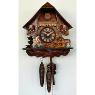 Chalet Cuckoo Clock Blacksmith and Horse, 1 Day Chalet Cuckoo Clocks - SavvyNiche.com