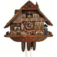 Cuckoo Wall Clock Card Playing Beer Drinkers, 8 Day Musical Chalet Cuckoo Clocks - SavvyNiche.com
