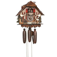 Cuckoo Wall Clock Fisherman Fishing, 8 Day Musical Chalet Cuckoo Clocks - SavvyNiche.com