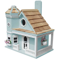 Buy Birdhouse Flower Pot Cottage - Blue