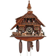 Cuckoo Wall Clock Carpenters & Horseman, 8 Day Musical Chalet Cuckoo Clocks - SavvyNiche.com