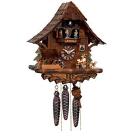 Musical Beer Drinker Cuckoo Clock with Moving Waterwheel and Dancers