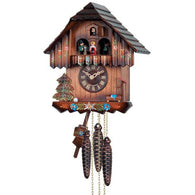Musical Cuckoo Clock with Hand-painted Flowers and Moving Dancers
