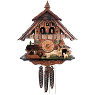 Musical Cuckoo Clock with Moving Sheep Herder & Waterwheel