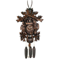 Musical Hunter's Cuckoo Clock with Dancers