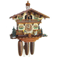 Musical Cuckoo Clock Cottage with Boy and Girl on Seesaw