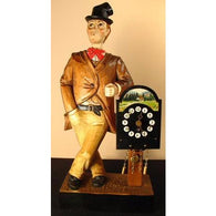 Whistling Man, Mechanical Mantel Clocks - SavvyNiche.com