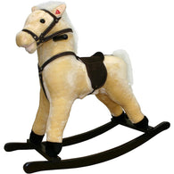 Plush Rocking Horse White Palomino, Plush Rocking Horses - SavvyNiche.com