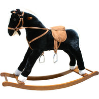 Plush Rocking Horse Black and White, Plush Rocking Horses - SavvyNiche.com