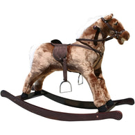 Plush Rocking Horse Brown Large, Plush Rocking Horses - SavvyNiche.com