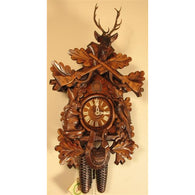 Hunting Deer Head, Rifles, Rabbit & Bird, 8 Day Cuckoo Clocks - SavvyNiche.com
