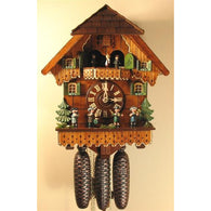 Cuckoo Wall Clock Musicians Oompah Band, 8 Day Musical Chalet Cuckoo Clocks - SavvyNiche.com