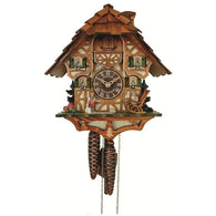 Chalet Cuckoo Clock Rocking Chair Girl with Cat & Goose, 1 Day Chalet Cuckoo Clocks - SavvyNiche.com