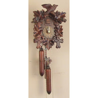 Cuckoo Clock Leaves, Bird, and Wooden Weights, 1 Day Cuckoo Clocks - SavvyNiche.com