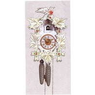 White Cuckoo Clock Leaves and Bird, 1 Day Cuckoo Clocks - SavvyNiche.com